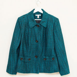 JH Collectibles Teal & Black Jacket 14